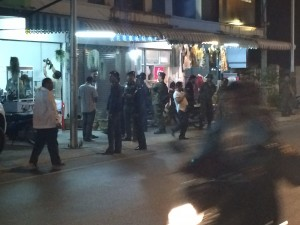 army out in force in Samui