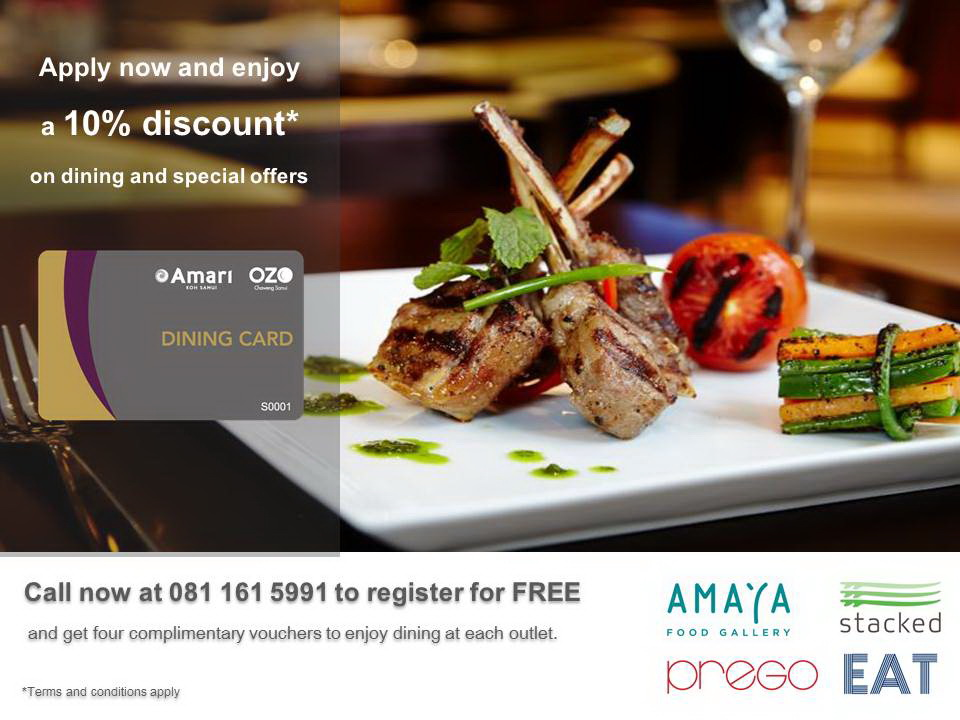 ozo dining card