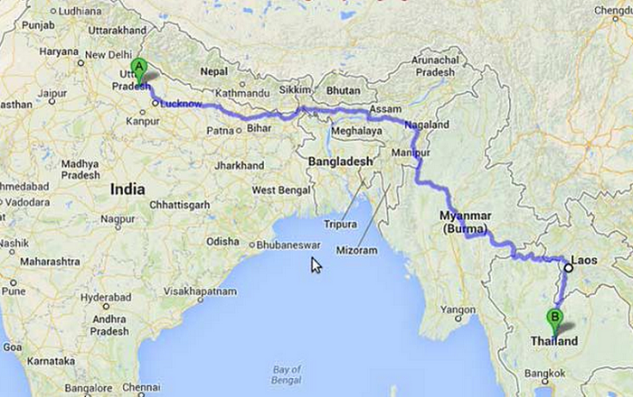 Fancy a road trip Now you can drive from Thailand to India Samui