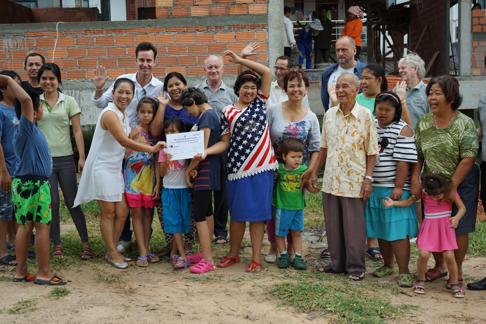 Thailand Hotels Association present a check to the Special Needs School | Samui Times
