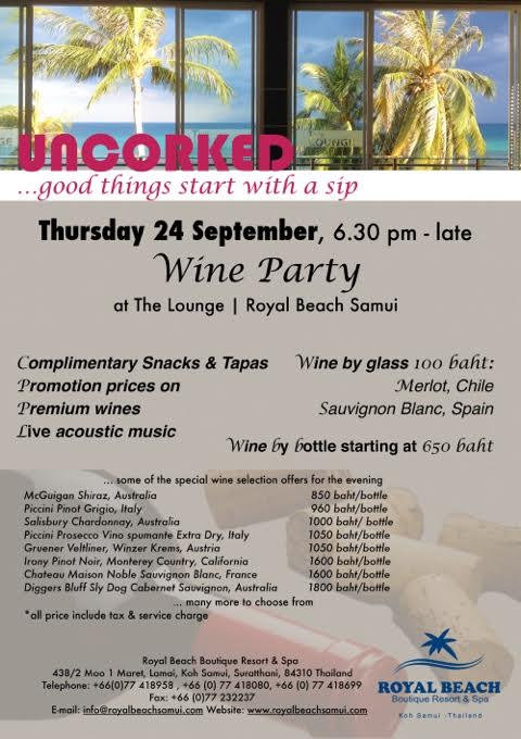 uncorked at Royal Beach