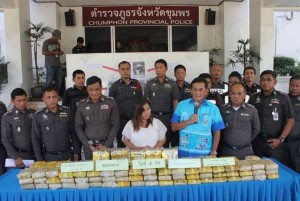 woman arrested for two million baht of drugs in Thailand