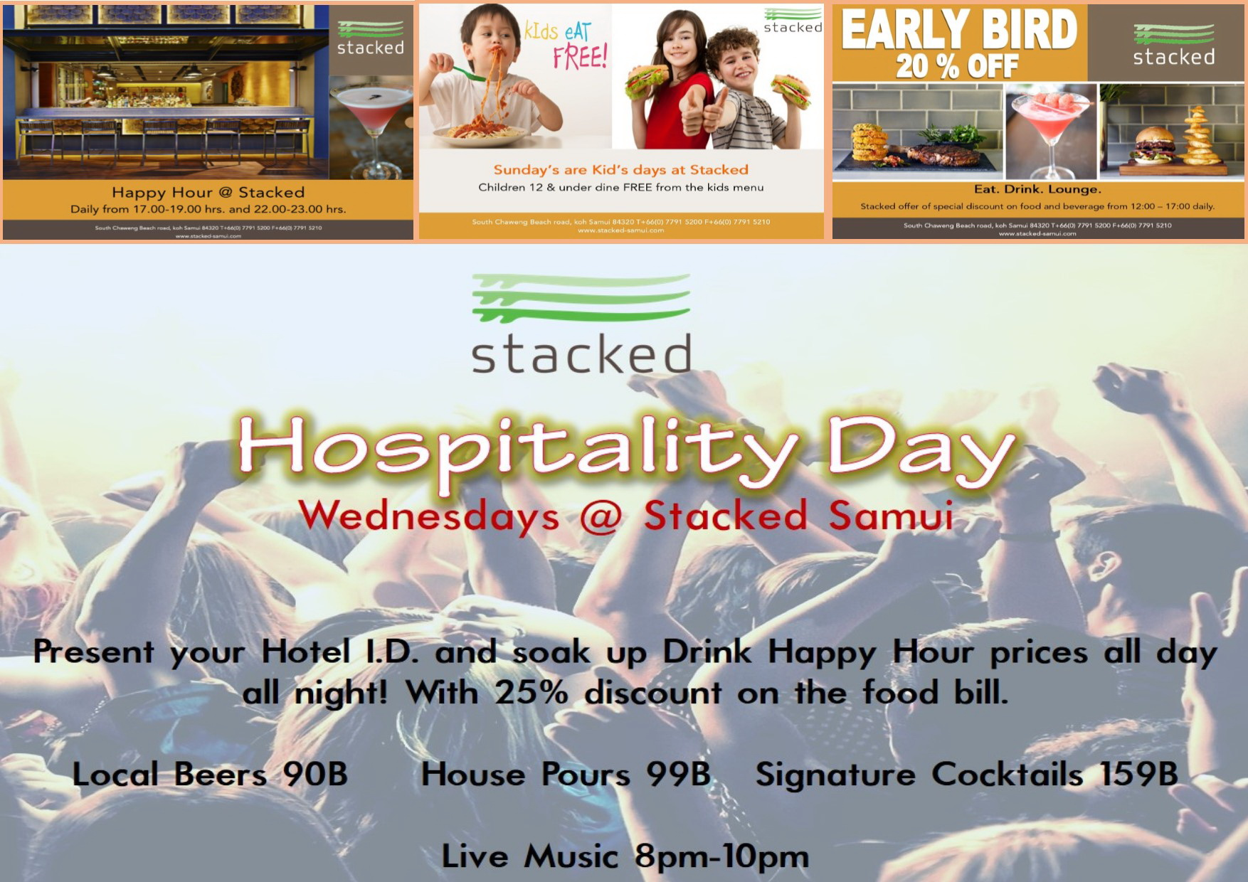 Hospitality Day - Wednesdays at Stacked - Samui Times