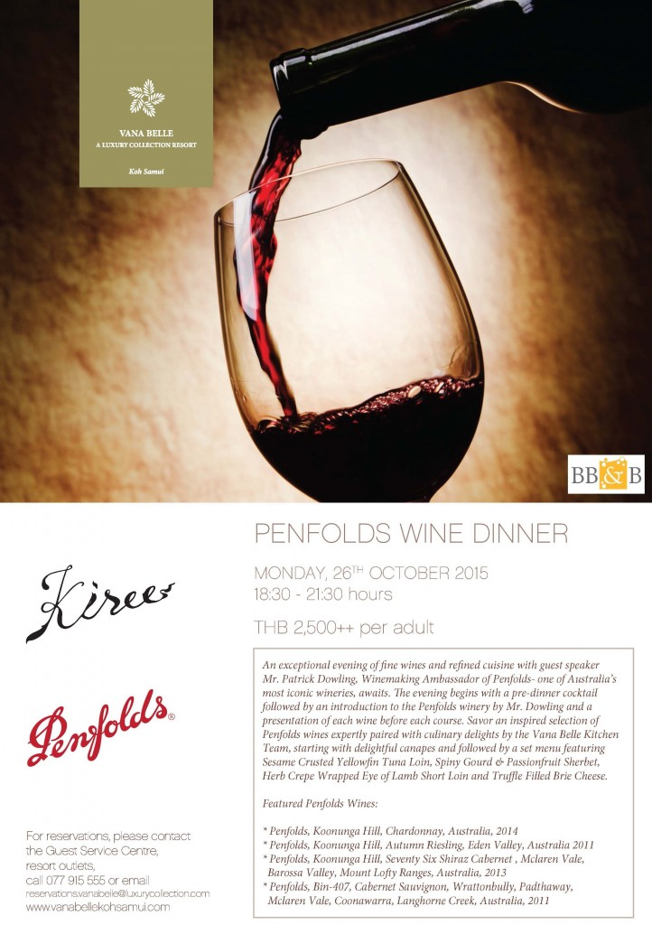 penfold wine dinner