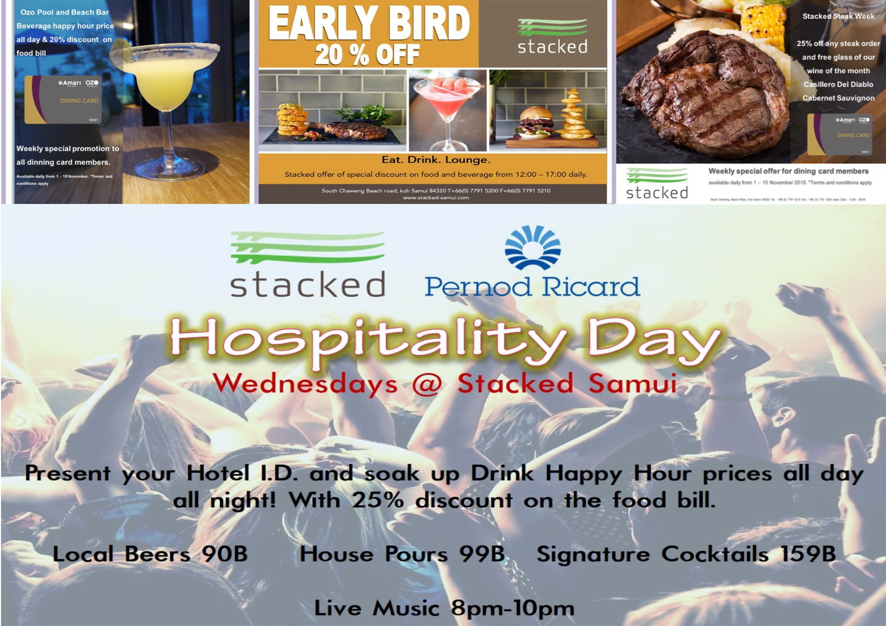 Enjoy 25% discounts at the Stacked Hospitality Day | Samui Times