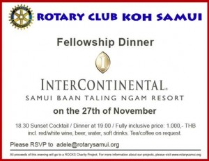 rotary dinner Intercontinental