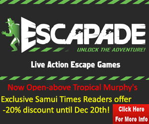 Exclusive offer for Samui Times readers at Escapade Koh Samui | Samui Times