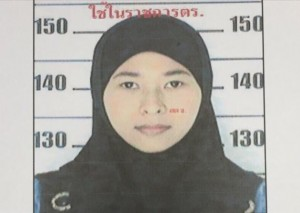 female suspect in the Bangkok bombings
