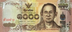 one thousand baht note