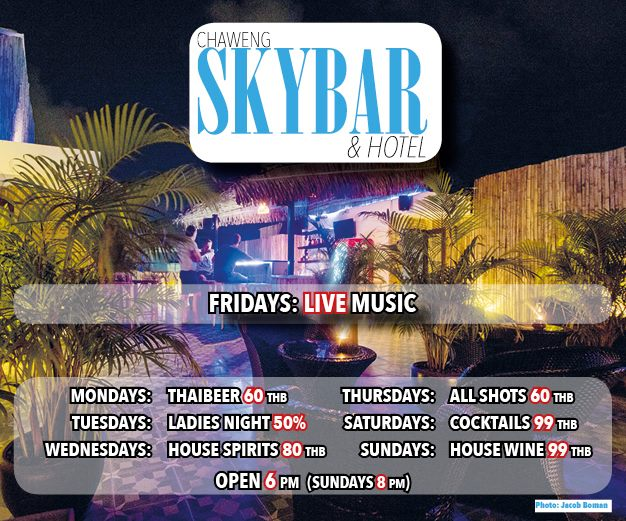 Its Friday! enjoy the start of your weekend with live music at the SKYBAR | Samui Times
