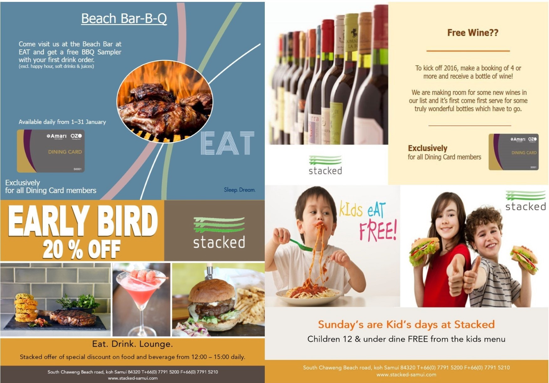 Exciting new January promotions at Stacked at Ozo in Chaweng | Samui Times