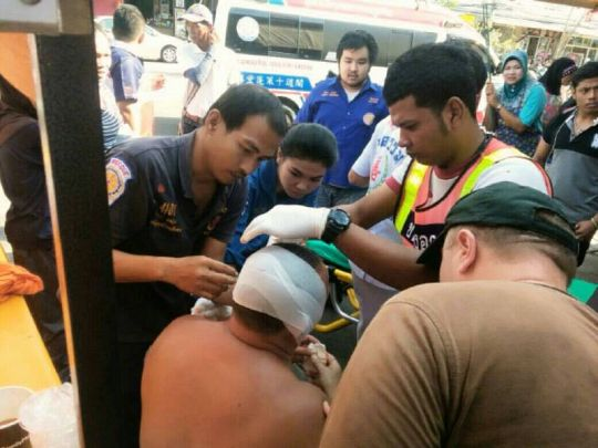 Russian man's ear sliced off by flying knife in Patong fish market fight | Samui Times