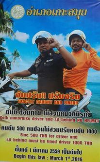 Bike helmet laws to be enforced in Koh Samui from March 1st | Samui Times