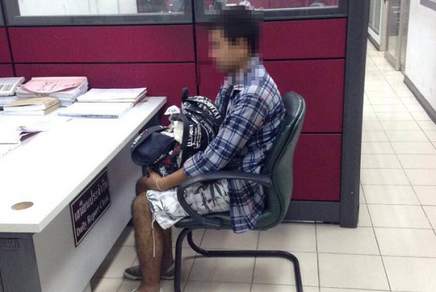 Bangkok police question man after dead baby found inside backpack   Samui Times