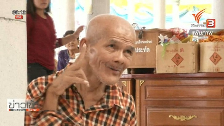 A kind-hearted beggar who once donated over 1 million baht to a temple is now out of the temple | Samui Times