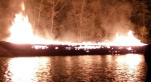 boat blows up