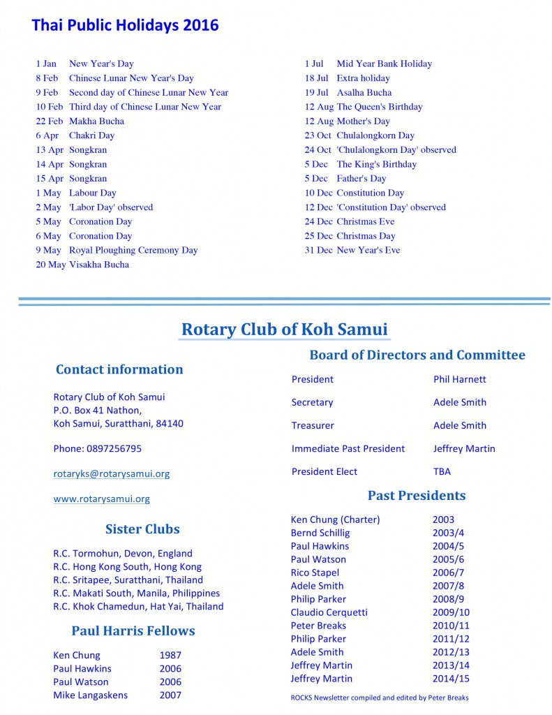 rotary March 7