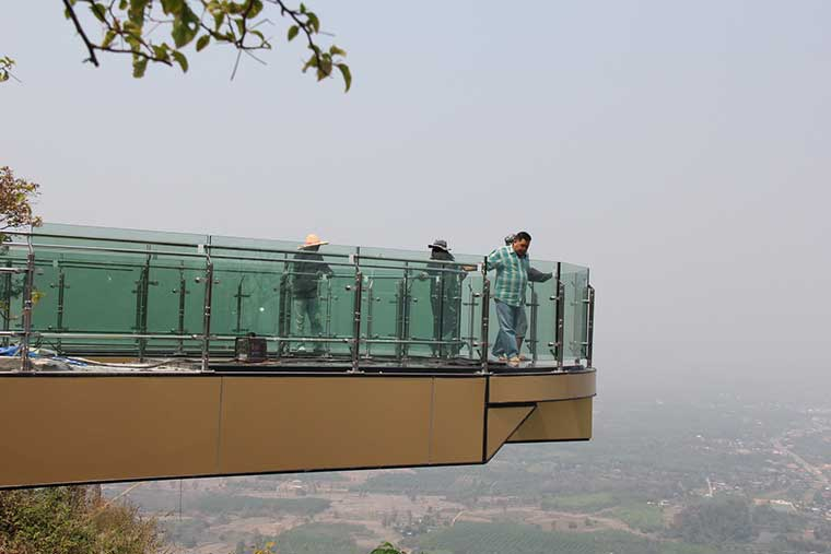 Thailand's first glass skywalk will be open to public in March | Samui Times
