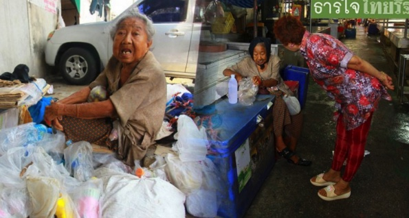 An eighty year old with Alzheimer's living on scraps at Samrong market needs help | Samui Times