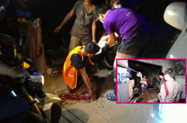 Take that! Masseuse with babe in arms slashes motorcycle taxi guy in Samut Prakan | Samui Times