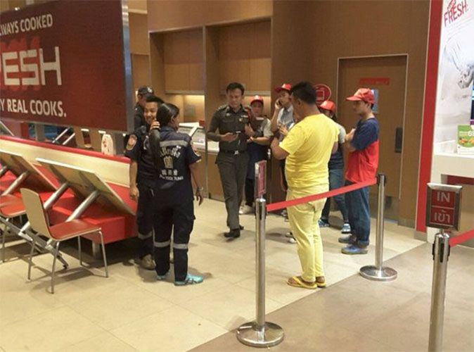 Two men shot while eating at KFC Samut Prakarn | Samui Times