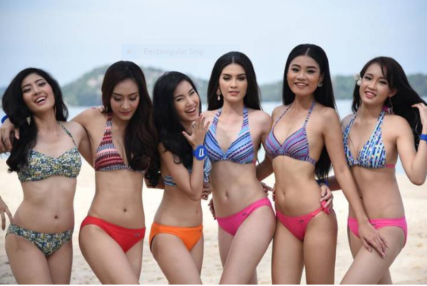 Nice views on Phuket beaches yesterday as Miss Thailand hopefuls raise temperatures even more | Samui Times