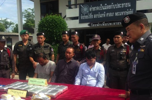 Surat police arrested three men for transporting nearly 90,000 Ya Ba tablets from Bangkok down South | Samui Times