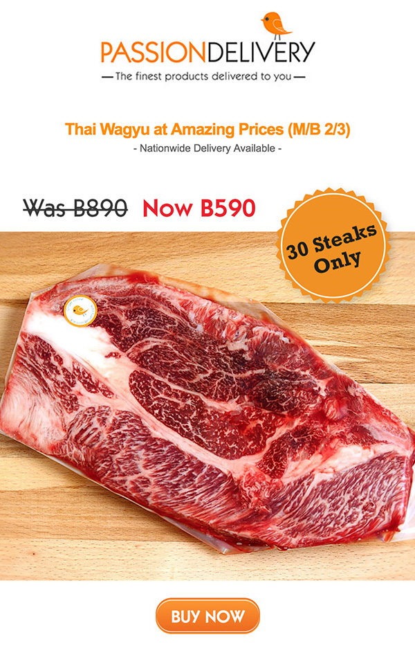 Thai Wagyu Steaks, Was B890, Now just B590! delivered to your door in Samui | Samui Times