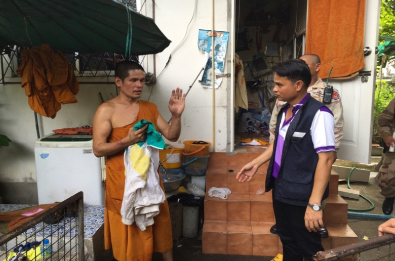 """Monk found with drugs, weapons and """"masturbation equipment"""" 