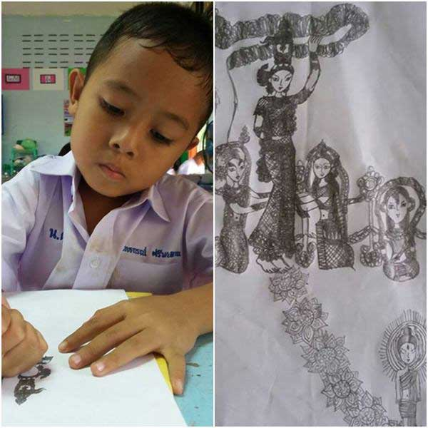 Six year old Udon artist becomes TV star | Samui Times