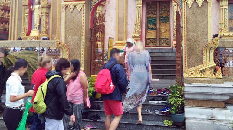 Thais furious as 'farang' woman parades in her undies at Phuket temple | Samui Times