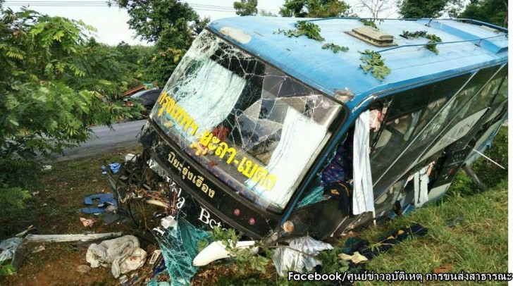 Bus crash in South kills two | Samui Times