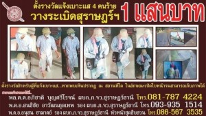 reward for information on Thai bombers
