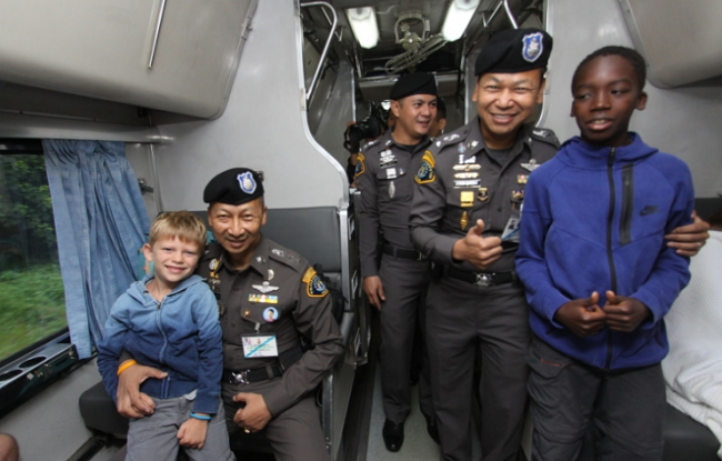 It's safer by train! Transport police show public a friendly face | Samui Times