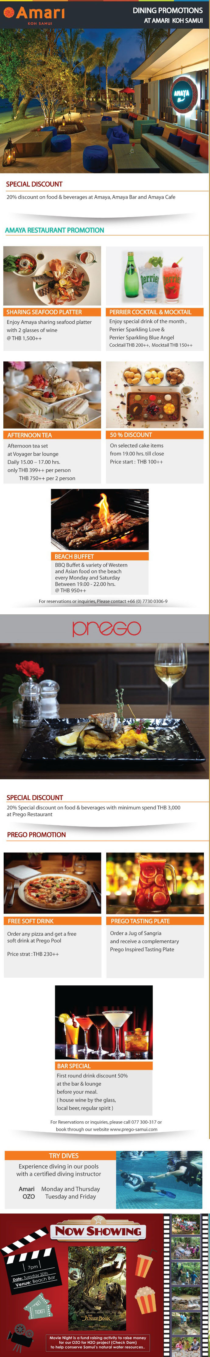 Amari and OZO Dining Card Promotions for September | Samui Times
