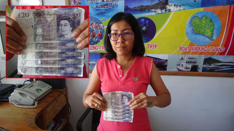 Watch out for fake £20 notes in southern Thailand – and watch out for this guy! | Samui Times