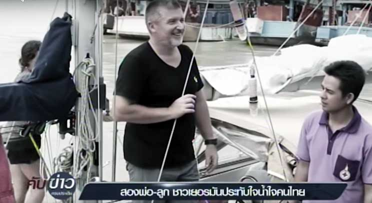 German sailor and daughter impressed with Thais after ocean rescue   Samui Times
