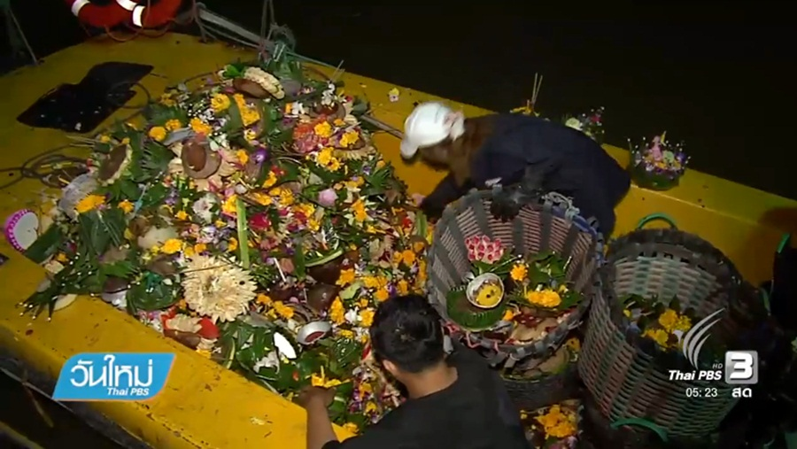 Over six tonnes of Krathong floats collected for disposal | Samui Times
