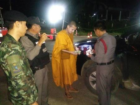 Rogue monk nabbed: The only thing that wasn't orange was his urine – that was purple | Samui Times
