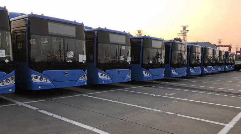 Scandal brewing as 100 of Thailand's new NGV buses are held by customs | Samui Times