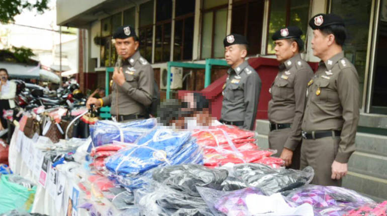 Bangkok police in 5 million baht counterfeit good arrest | Samui Times