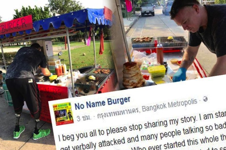 """Handicapped burger seller says his """"life has collapsed"""" after media attention 
