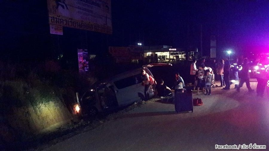 Eight Taiwanese injured in van crash | Samui Times