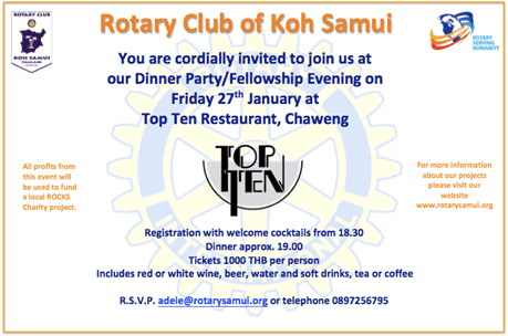 Dear members, Friends and supporters of Rotary – Welcome to a wet and windy 2017 | Samui Times