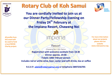February Rotary Fellowship at Impiana Resort | Samui Times