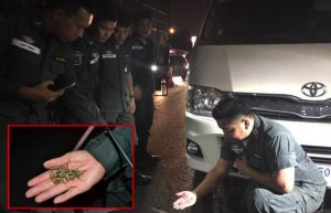 Mysterious forces at work as nails left next to police vehicles near UFO temple | News by Samui Times