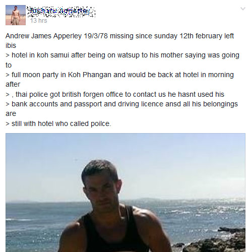 British tourist found dead in Phangan sent eerie messages prior to his death | Samui Times