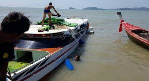Phuket tourists rescued after speedboat slams submerged mooring block   News by Samui Times