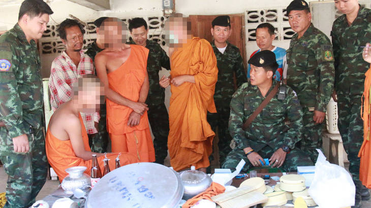 """Ya Ba brought to temple to """"make merit"""" as soldiers bust three day drugs, booze and sex party at two temples   Samui Times"""