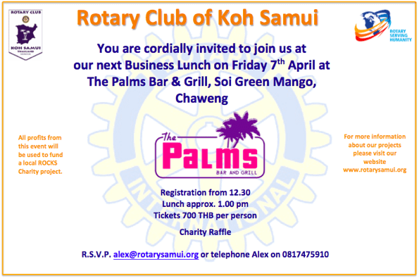 Rotary Samui April Business Lunch | Samui Times